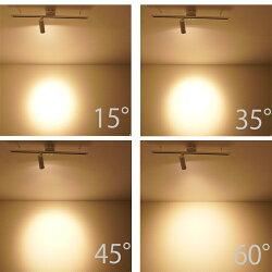 スポットライトLED一体型ライティングレール専用レールライト電球色880lm1灯ビーム角度24°ダクトレール用照明LEDスポットライト一体式スポット照明ダイニング間接照明ブラック黒ホワイト白照明器具