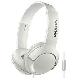 【お買い物マラソン期間クーポン】 フィリップス マイク付き密閉型 オンイヤーヘッドフォン(ホワイト) SHL3075WH