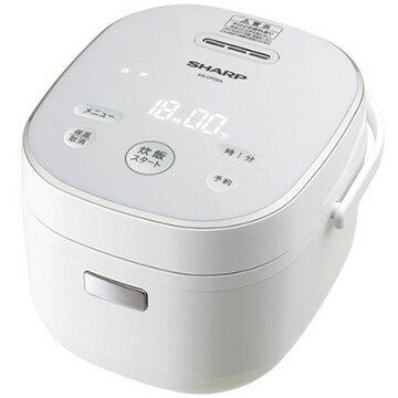 シャープ マイコン炊飯器 黒厚釜 3合炊き ホワイト系 KS-CF05A-W