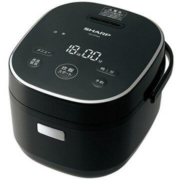 シャープ マイコン炊飯器 黒厚釜 3合炊き ブラック系 KS-CF05A-B