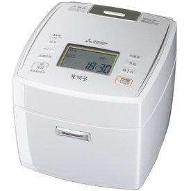 三菱電機 IH炊飯器 備長炭 炭炊釜 5.5合炊き ピュアホワイト NJ-VE109-W