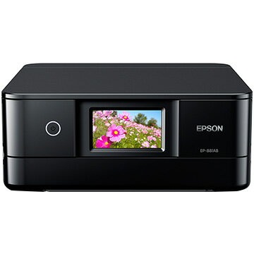 【期間限定 エントリーでP10倍】 EPSON A4インクジェット複合機 Colorio ブラック EP-881AB