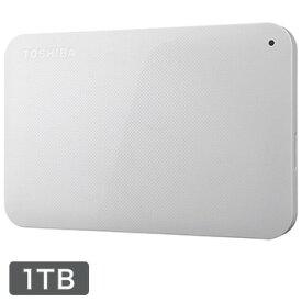 東芝 ポータブルHDD CANVIO BASICS 1TB ホワイト HD-AC10TW