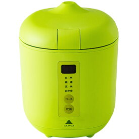 神明きっちん ソフトスチーム米専用小型炊飯器 poddi(ポッディー) 1.5合炊き グリーン AK-PD01-G