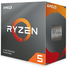 AMD CPU Ryzen 5 3600 クーラー付 (6C12T3.6GHz65W) 100-100000031BOX