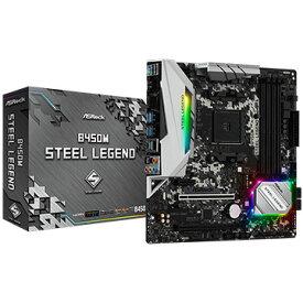 【エントリーでP7倍!11/19 20時~11/26 1時59分まで】 ASRock マザーボード B450M Steel Legend B450M-STEEL-LEGEND