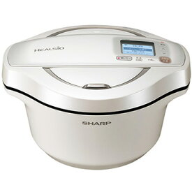 SHARP ヘルシオ ホットクック 2.4L 電気無水鍋(無線LAN/音声発話搭載) ホワイト系 白系 KN-HW24E-W