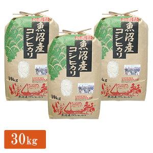 【エントリーでP7倍】 ■【精米】令和元年産 新潟県 魚沼産 コシヒカリ 手縛りクラフト 30kg(10kg×3)