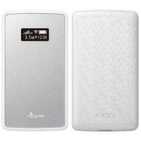 NEC 【数量限定シリコンカバー付き】Aterm MP02LN メタリックシルバー