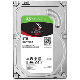 SEAGATE Ironwolf シリーズ 3.5inch SATA 6Gb/s 4TB 5900rpm 64MB ST4000VN008
