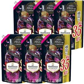 P&G レノアハピネス 柔軟剤 ヴェルベットフローラル&ブロッサム つめかえ 超特大 1485mL×6袋