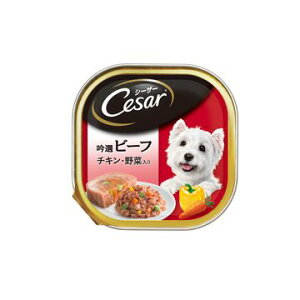 マースジャパンリミテッド ■シーザー 吟選ビーフ チキン・野菜入り 100g CE29N