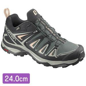 サロモン [ユニセックス アウトドアシューズ] FOOTWEAR X ULTRA 3 GTX W Balsam Gr/Miner サイズ:24 L40987800_24.0