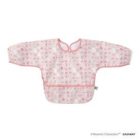 DADWAY ■お食事長袖ビブ/フラワーブロック(ピンク) BBMB004133200