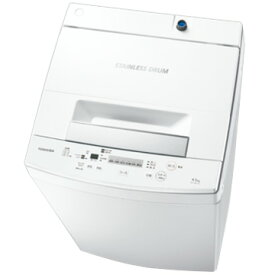 【お買い物マラソン期間クーポン】 東芝 全自動洗濯機(4.5kg) パワフル洗浄ホワイト 【配送のみ設置無し 軒先渡し】 AW-45M7(W)