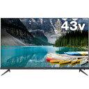 TCL P815シリーズ 43型4K対応液晶テレビ 4KBS/CSチューナー内蔵 Android TV搭載 43P815B