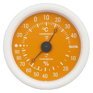 【期間限定エントリーで最大P38倍】 タニタ TANITA 温湿度計 オレンジ TT-515-OR