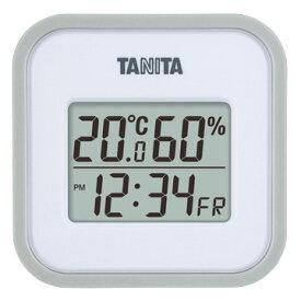 タニタ デジタル温湿度計 グレー TT-558-GY