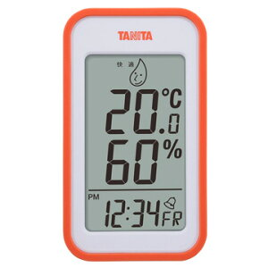 タニタ デジタル温湿度計 オレンジ TT-559-OR