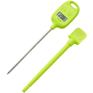 タニタ デジタル 料理用温度計 グリーン TT583GR