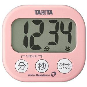タニタ 洗える「でか見え」タイマー ピンク TD426PK