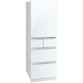 三菱電機 5ドア冷蔵庫(455L) Bシリーズ クリスタルピュアホワイト(右開き)【大型商品(設置工事可)】 MR-B46E-W