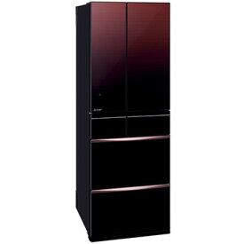 三菱電機 MXシリーズ 6ドア冷蔵庫503L グラデーションブラウン (フレンチドア)【大型商品(設置工事可)】 MR-MX50F-ZT