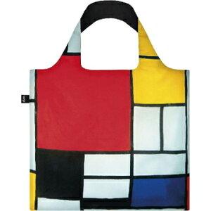エーワイ ローキーミュージアムコレクションエコバッグ モンドリアン 赤黄青と黒のコンポジション PM.CO