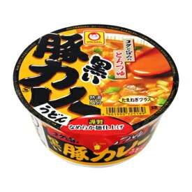 東洋水産 マルちゃん 黒い豚カレーうどん カップ 87g x 12