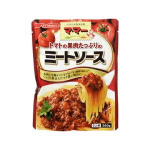 【枚数限定 最大5,000円OFFクーポン配布中】 日清フーズ ママー トマトの果肉たっぷりのミートソース 260g x 6