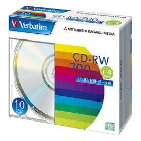 三菱 CD-RW 700MB データ用 4倍速 10枚スリム シルバー SW80QU10V1