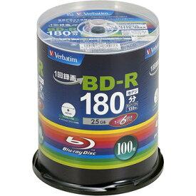三菱電機 BD-R 130分 1-6x スピンドル100P ホワイト VBR130RP100SV4