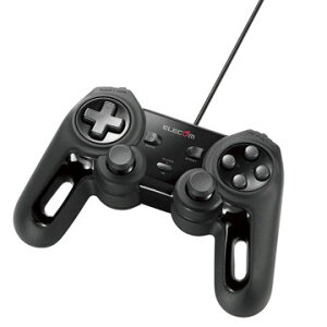 エレコム USBゲームパッド/13ボタン/振動/連射/ブラック JC-U4013SBK
