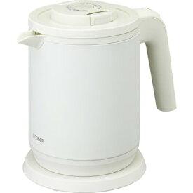 タイガー魔法瓶 蒸気レス電気ケトル (わく子) 0.8L マットホワイト PCK-A080WM