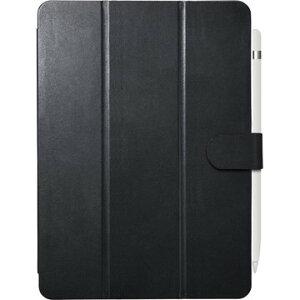 BUFFALO iPad 10.2用3アングルレザーケース ブラック BSIPD19102CL3BK