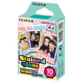 FUJIFILM チェキ用フィルム instax mini ステンドグラス 10枚入 INSTAXMINISTAINEDGLASS1