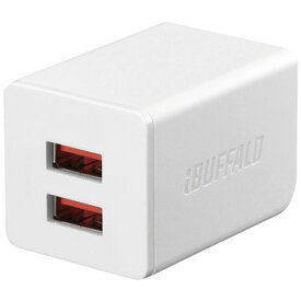 BUFFALO 2.4A USB充電器 2ポート ホワイト BSMPA2402P2WH