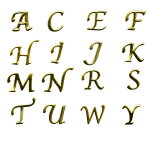 アルファベットのメタルパーツ/人気の書体のイニシャルメタルパーツ