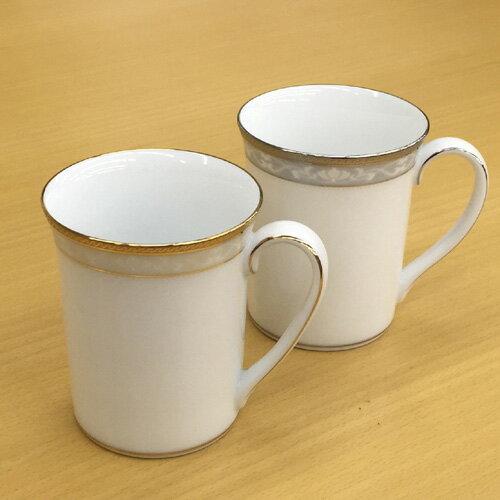 Noritake (ノリタケ) ハンプシャーゴールド&プラチナ ペアマグカップ 【ギフト 出産内祝 結婚内祝 結婚式引出物 快気祝 各種内祝 引出物 景品】