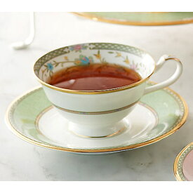 Noritake (ノリタケ) 日本製 ヨシノ ティー・コーヒーカップ&ソーサー (グリーン) 【ギフト 出産内祝 結婚内祝 快気祝 お返し 各種内祝 引出物】