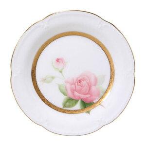 皇室御用達 大倉陶園 三代の薔薇 プリンセスアイコ 14cmプチケーキ皿 [ブランドロゴ入りギフトBOX] 【ギフト 出産内祝 結婚内祝 結婚式引出物 快気祝 お返し 各種内祝 引出
