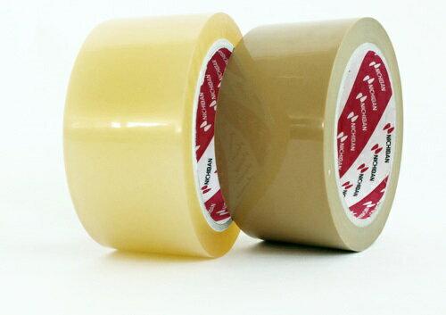 ニチバン カートンテープ 640PF 50ミリ×50m 50巻 【透明 黄土】 (OPPテープ 梱包用テープ 透明テープ)