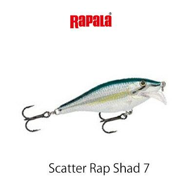 【大特価 在庫限り】 ラパラ スキャッターラップ シャッド 7Rapala Scatter Rap Shad 7 SCRS7釣り具 フィッシング クランクベイト ハードルアー おすすめ 通販 ブラックバス バスルアー【メール便3個までOK】