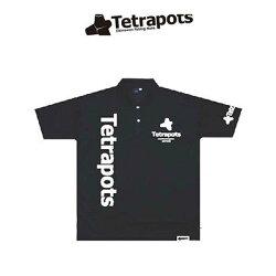 テトラポッツTPドライポロブラックポロシャツTPP-003S〜XLモンゴル800(テトラポット)TetrapotsTPDRYPOLO/BLACK釣り具フィッシングポロシャツウェアウエア半袖磯釣りフカセモンパチモンゴル800高里悟重ね着