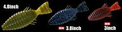 デプスブルフラット4.8インチワームdepsBULLFLAT4.8inchWORM通販釣り具フィッシングワームソフトルアーブラックバスブルーギル奥村フレッシュウォーター(淡水)【3個までメール便OK】
