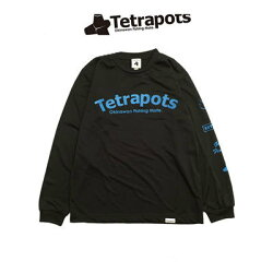 テトラポッツドライロングTTPT-034ブラック長袖Tシャツ(テトラポット)TetrapotsDRYLONGTEETPT034テトラポッツドライロングTEE釣り具フィッシングTシャツウェアウエア長袖モンパチモンゴル800高里悟【