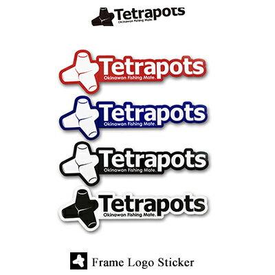 テトラポッツ フレームロゴステッカー TPG-037 Tetrapots Frame Logo Sticker TPG037 テトラポッツ 釣り具 フィッシング シール 魚 釣り 通販 モンゴル800 モンパチ 【何枚でもメール便OK】