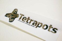テトラポッツロゴステッカー迷彩(4573300800428)TetrapotsLogoSticker【何枚でもメール便OK】テトラポッツ釣り具フィッシングシール魚釣り通販モンゴル800モンパチ