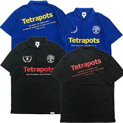 テトラポッツTPP-00418ドライポロブラックポロシャツ半袖Tetrapots18DRYPOLO【1枚までメール便OK】通販釣り具フィッシングポロシャツウェアウエア半袖モンパチ