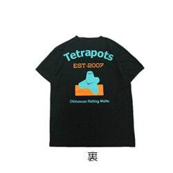 テトラポッツCOドライTEETPT039ブラックTシャツ半袖TetrapotsCODRYTEEBLACK【1枚までメール便OK】通販釣り具フィッシングTシャツウェアウエア半袖モンパチモンゴル800高里悟